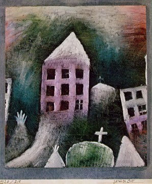 Paul Klee Painting - Destroyed place Paul Klee