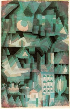 Dream Painting - Dream City Expressionism Bauhaus Surrealism Paul Klee