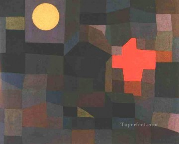 Paul Klee Painting - Fire Full Moon Paul Klee