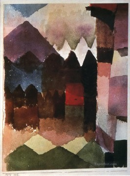 Klee Oil Painting - Foehn Wind in Marc Garden Paul Klee