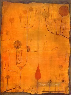 Paul Klee Painting - Fruits on Red Paul Klee