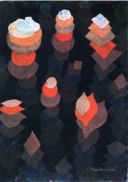 Paul Klee Painting - Growth of the night plants Paul Klee