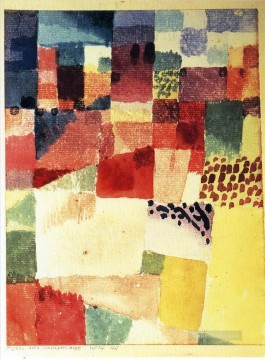Klee Oil Painting - Hammamet Paul Klee