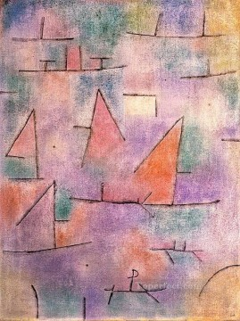 Paul Klee Painting - Harbour with sailing ships Paul Klee
