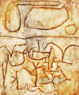 Klee Oil Painting - Historic ground Paul Klee