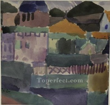 Klee Oil Painting - In the houses of St Germain Paul Klee
