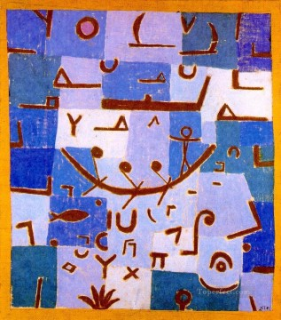 Klee Oil Painting - Legend of the Nile 1937 Expressionism Bauhaus Surrealism Paul Klee