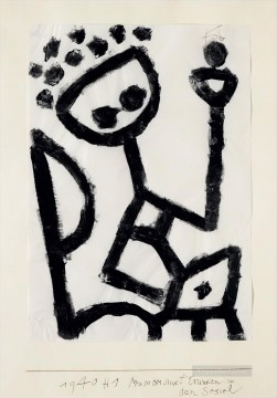 Paul Klee Painting - Mumon drunk falls into the chair Paul Klee