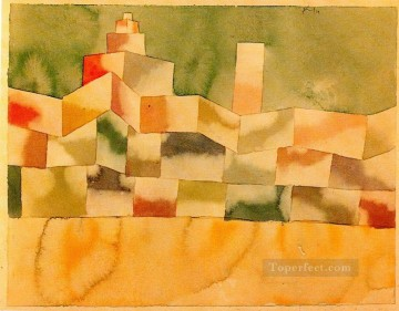 Klee Oil Painting - Oriental Architecture Paul Klee
