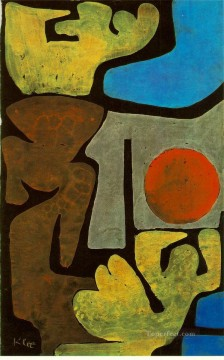 Klee Oil Painting - Park of Idols 1939 Expressionism Bauhaus Surrealism Paul Klee