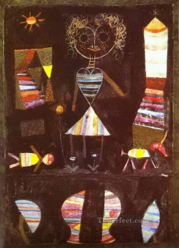 Klee Oil Painting - Puppet theater Paul Klee