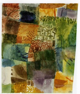 garden Oil Painting - Remembrance of a Garden 1914 Expressionism Bauhaus Surrealism Paul Klee