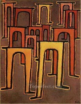 Klee Oil Painting - Revolution of the Viaduct Paul Klee