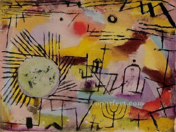 Klee Oil Painting - Rising Sun Paul Klee