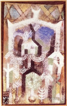 Klee Oil Painting - Summer houses Paul Klee
