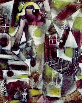 Klee Oil Painting - Swamp legend Paul Klee