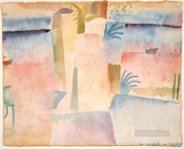 Klee Oil Painting - View Towards the Port of Ha Paul Klee