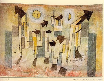Klee Oil Painting - Wall Painting from the Temple of Longing Paul Klee