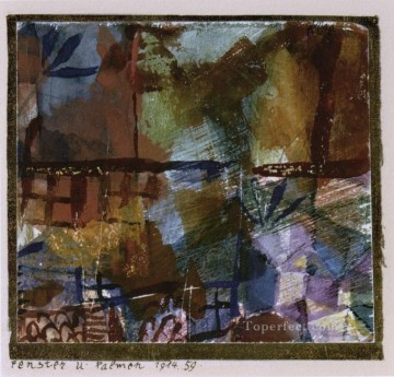 Windows and palm trees Paul Klee Oil Paintings