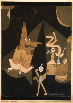 Paul Klee Painting - Witch scene Paul Klee
