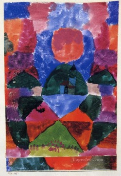 Klee Oil Painting - A pressure of Tegernsee Paul Klee