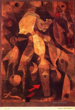Klee Oil Painting - A young ladys adventure Paul Klee