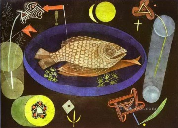 Klee Oil Painting - Aroundfish Paul Klee