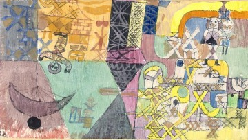 Klee Oil Painting - Asian entertainers Paul Klee