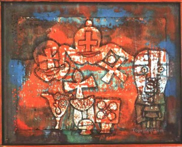 Klee Oil Painting - Chinese porcelain Paul Klee