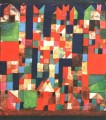City Picture with Red and G Paul Klee