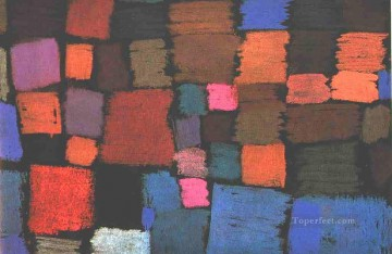 Klee Oil Painting - Coming to bloom Paul Klee