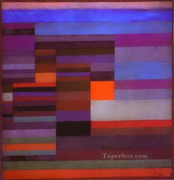 Klee Oil Painting - Fire evening Paul Klee