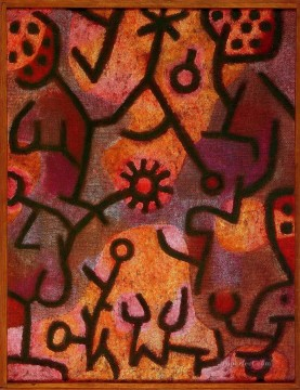 Flora on rocks Sun Paul Klee Oil Paintings