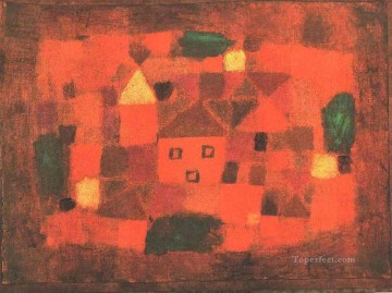 Klee Oil Painting - Landscape with Sunset Paul Klee