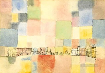 Neuer Stadtteil in M Paul Klee Oil Paintings