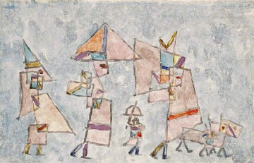 Klee Oil Painting - Promenade in the Orient Paul Klee