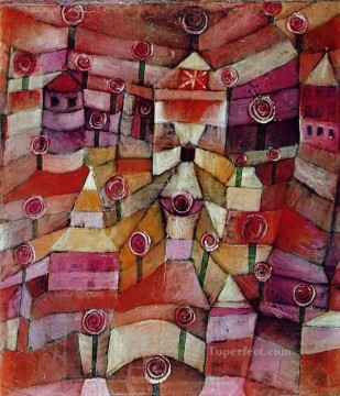 Paul Klee Painting - Rose garden Paul Klee
