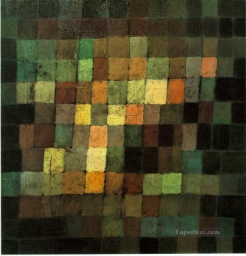 abstract Painting - Ancient Sound Abstract on Black 1925 Expressionism Bauhaus Surrealism Paul Klee