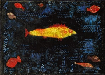 Paul Klee Painting - The Goldfish Paul Klee