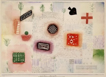 Paul Klee Painting - Place signs Paul Klee