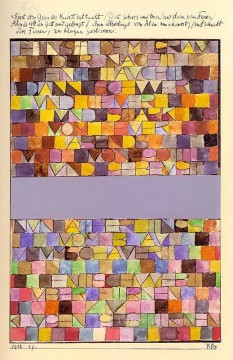Klee Oil Painting - Once Emerged from the Gray of Night Paul Klee