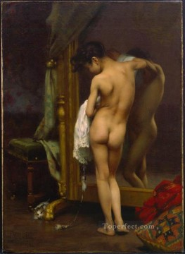 the Canvas - A Venetian Bather nude painter Paul Peel