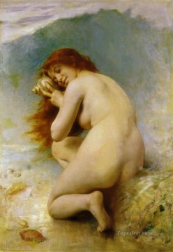 A Water Nymph 1898 nude Leon Bazile Perrault Oil Paintings
