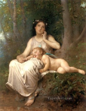 Love and Innocence 1884 Leon Bazile Perrault Oil Paintings