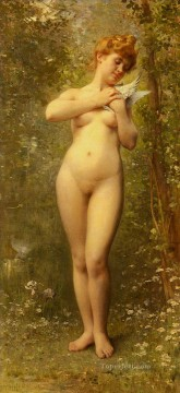 Venus A La Colombe nude Leon Bazile Perrault Oil Paintings