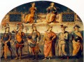 Fortitude and Temperance with Six Antique Heroes 1497 Renaissance Pietro Perugino
