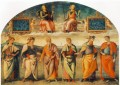 Prudence and Justice with Six Antique Wisemen 1497 Renaissance Pietro Perugino