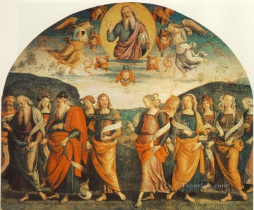 The Almighty with Prophets and Sybils Renaissance Pietro Perugino Oil Paintings