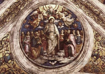 Apostle Art - The Holy Trinity and the Apostles Renaissance Pietro Perugino