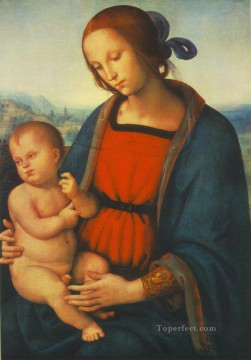 Madonna with Child 1501 Renaissance Pietro Perugino Oil Paintings